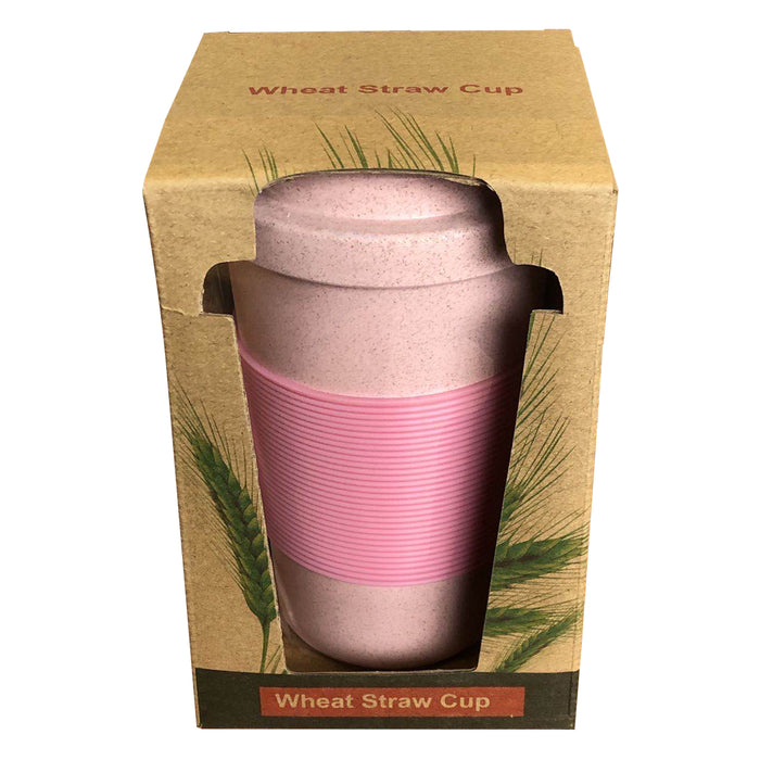 Eco-Friendly Wheat Straw Travel Cups (Blue)
