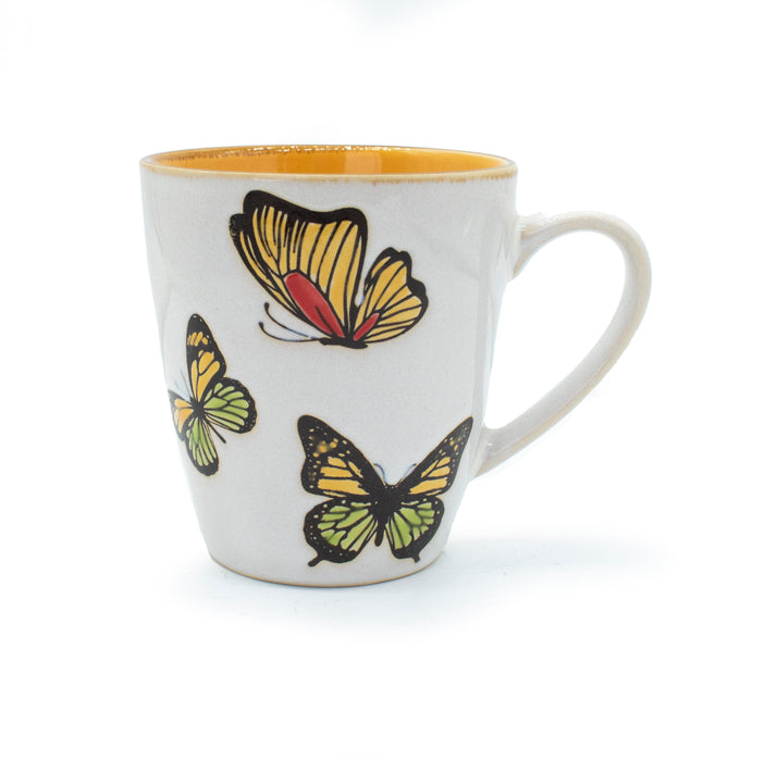 Hand-Painted Butterfly Mugs (Set of 4) - Original Source