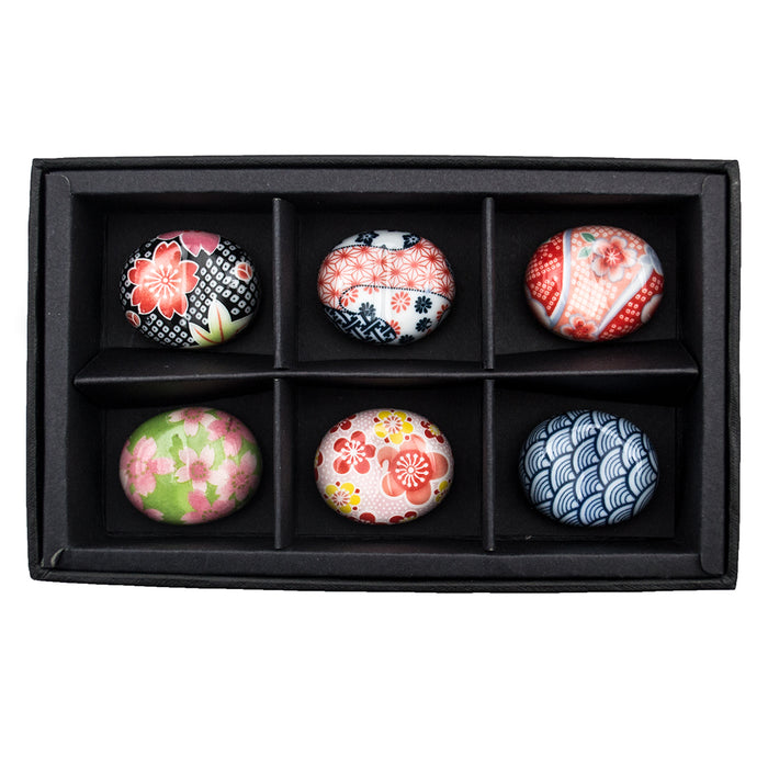 Ceramic Chopstick Holders - Japanese Floral - Set of 6 - Original Source
