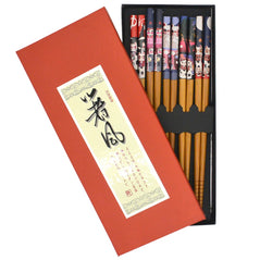 Wood Chopsticks - Lucky Cat - Set of 5 - Original Source