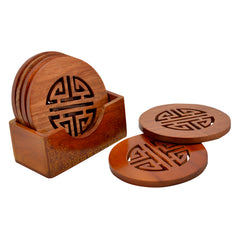 Wooden Longevity Coasters - Set of 6