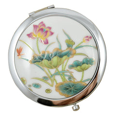 Porcelain Compact Mirrors - Lotus