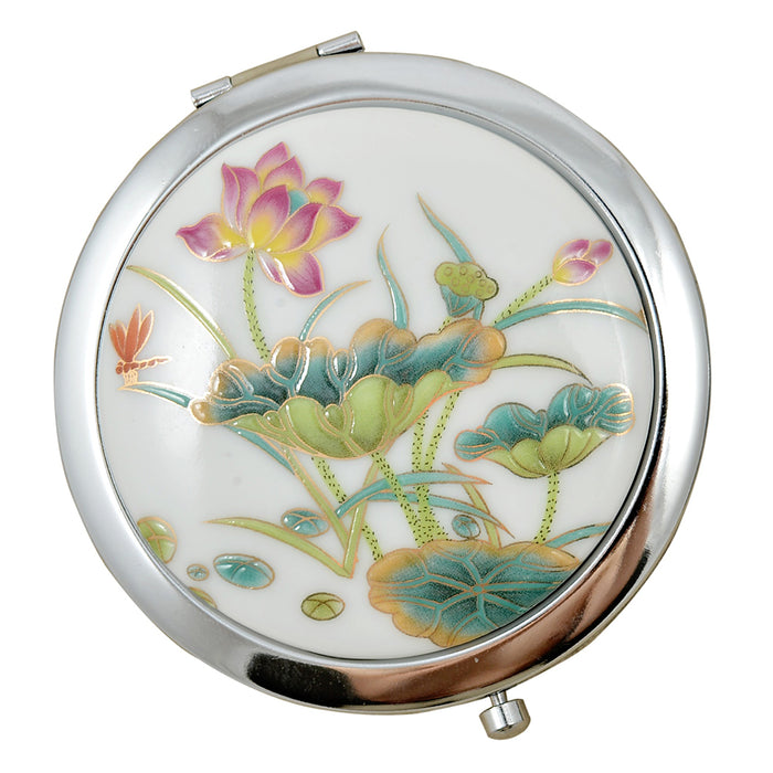 Porcelain Compact Mirrors - Lotus - Original Source