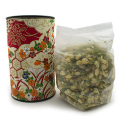 Jasmine Tea in Japanese Washi Fabric Tin Canister