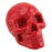 Resin Skull in a Silk Bag - Red - Original Source