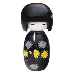 Wood Japanese Doll - Black