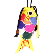 Patchwork Fish Purse - Yellow