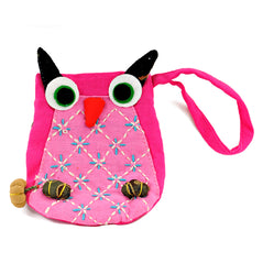 Owl Coin Purse - Pink