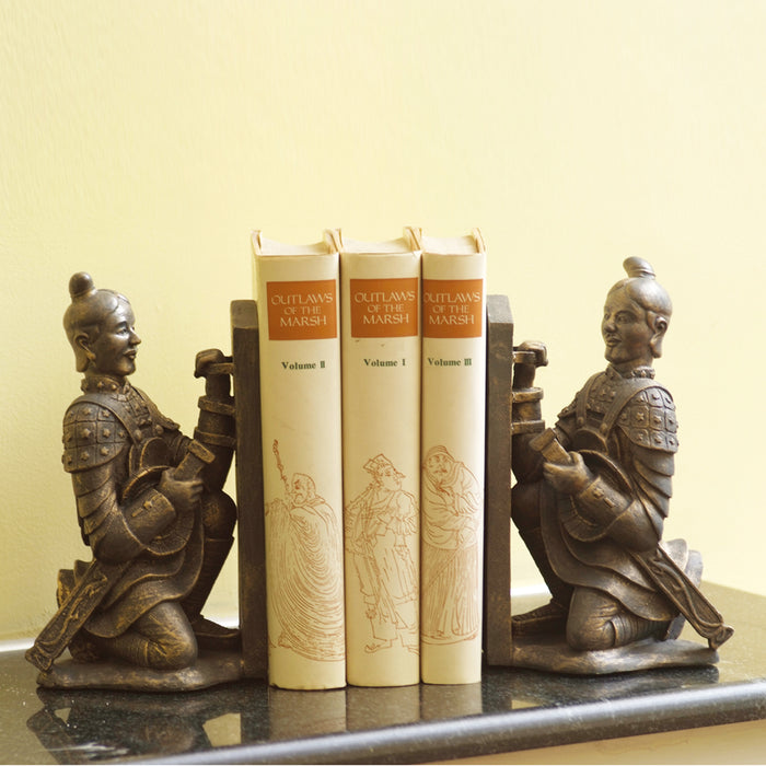 Terra Cotta Soldier Bookends