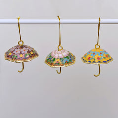 Cloisonne  Umbrella Ornaments  – Set of 3 - Original Source