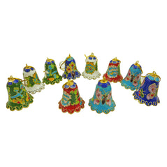 Cloisonne Bell Ornaments - Set of 10