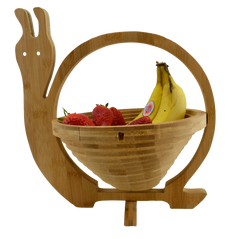 Foldable Bamboo Fruit Baskets - Snail