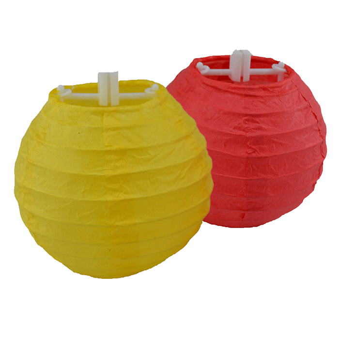 Paper Lanterns - Mini - Red & Yellow - Set of 6
