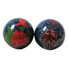 Health Balls - Cloisonne - Peony Flower - Original Source