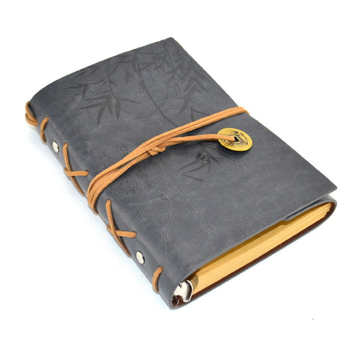 Asian Bamboo Leather Journal - Grey