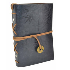 Asian Bamboo Leather Journal - Grey - Original Source