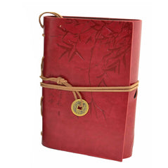 Asian Bamboo Leather Journal - Red - Original Source