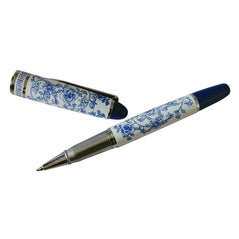 Ceramic Pen - Blue & White Floral - Original Source