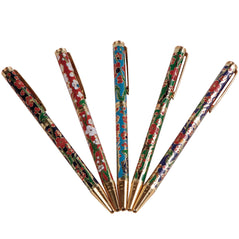 Cloisonne Pens - Floral - Set of 5 - Original Source