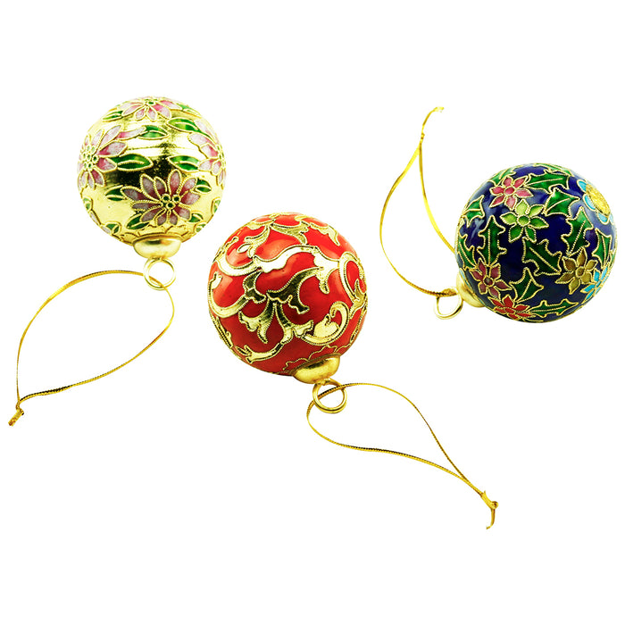 Cloisonne Ornamen Ball - Set of 3