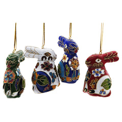 Cloisonné Ornament - Rabbit - Assorted Colors - Original Source