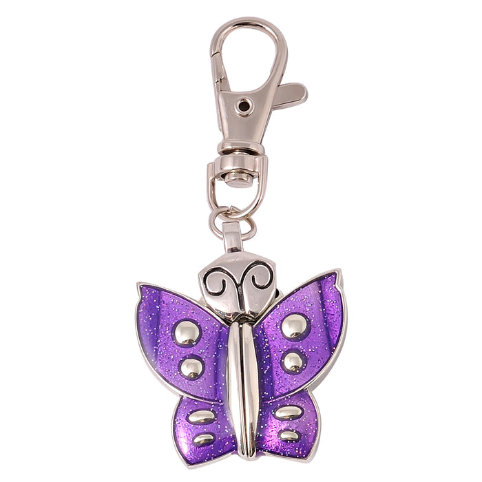 Butterfly Clock Key Chain - Purple - Original Source