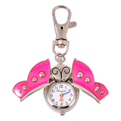 Butterfly Clock Key Chain - Pink - Original Source