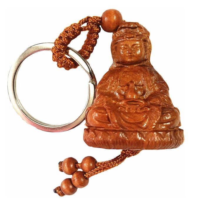Key Chain - Carved Wood - Kwan Yin - Original Source