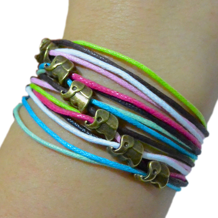 Rainbow Wrap Bracelets - 7 Elephants - Original Source