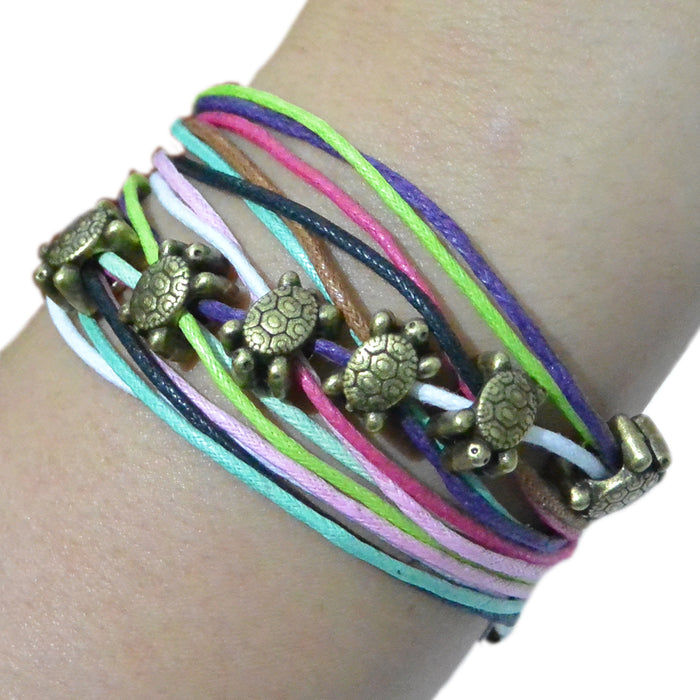 Rainbow Wrap Bracelets - 7 Turtles - Original Source