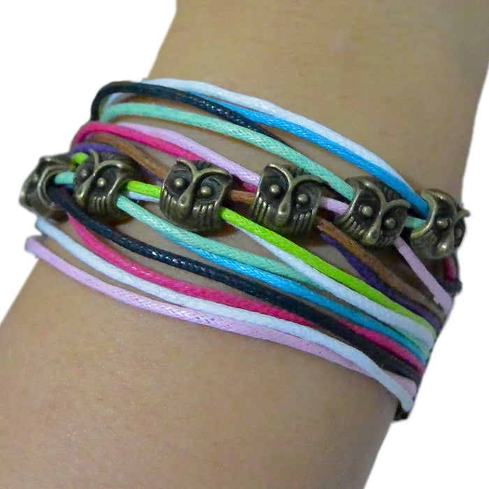 Rainbow Wrap Bracelets - 7 Owls