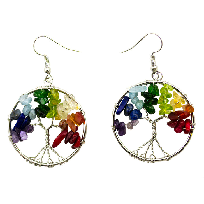 Tree of Life - Earrings - Semi Precious Stones - Original Source