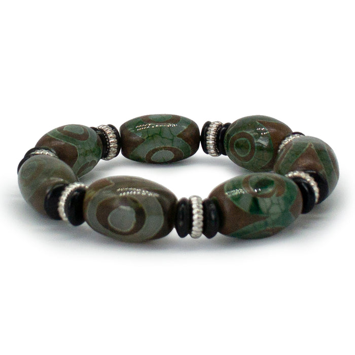 Green Tibetan Dzi Bead Bracelet - Original Source