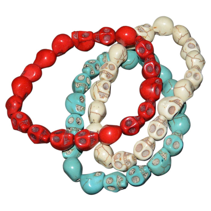 Skull Bead Bracelets - Set of 3 - Original Source