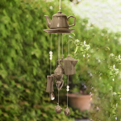 Teapot Wind Chime - Green