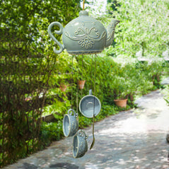 Teapot Wind Chime – Blue