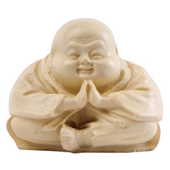 Buddha Sitting - White Resin - Original Source