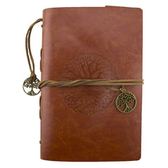 Leather Journal - Tree of Life - Brown