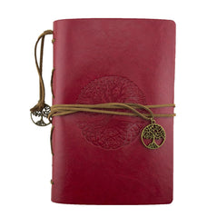 Leather Journal - Tree of Life - Red - Original Source
