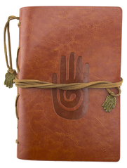 Leather Journal - Hamsa - Brown - Original Source
