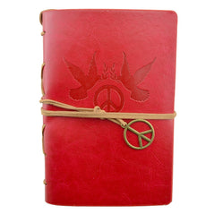 Leather Journal - Peace & Harmony - Red - Original Source