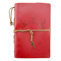 Leather Journal - Faith - Red - Original Source