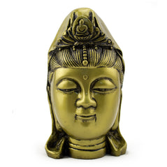 Kwan Yin Head - Brass Finish - Original Source