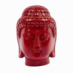 Buddha Head - Red Resin - Original Source