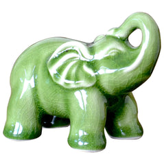 Crackle Celadon Ceramic Elephant - Original Source