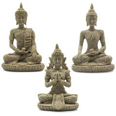 Sandstone Thai Buddhas - Set of 3 - Original Source