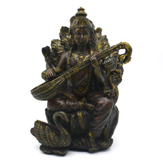 Saraswati - Brass Finish