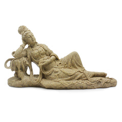 Sandstone Reclining Kwan Yin - Original Source