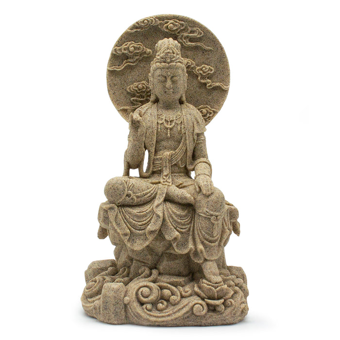 Sandstone Sitting Kwan Yin - Original Source