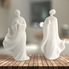 Zen Statue Set – Marble Finish